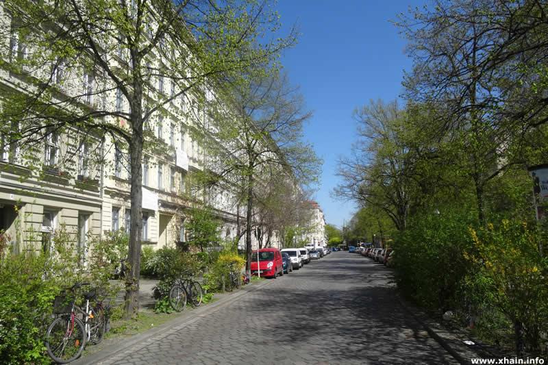 Schleiermacherstraße, Blickrichtung Blücherstraße