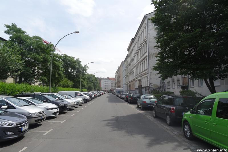 Sebastianstraße, Blickrichtung Dresdener Straße
