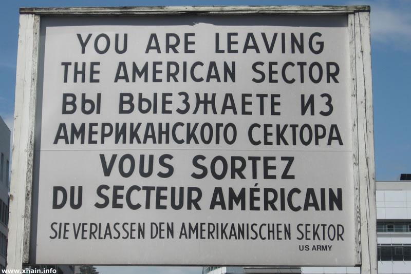 Schild an der Sekorengrenze, Checkpoint Charly