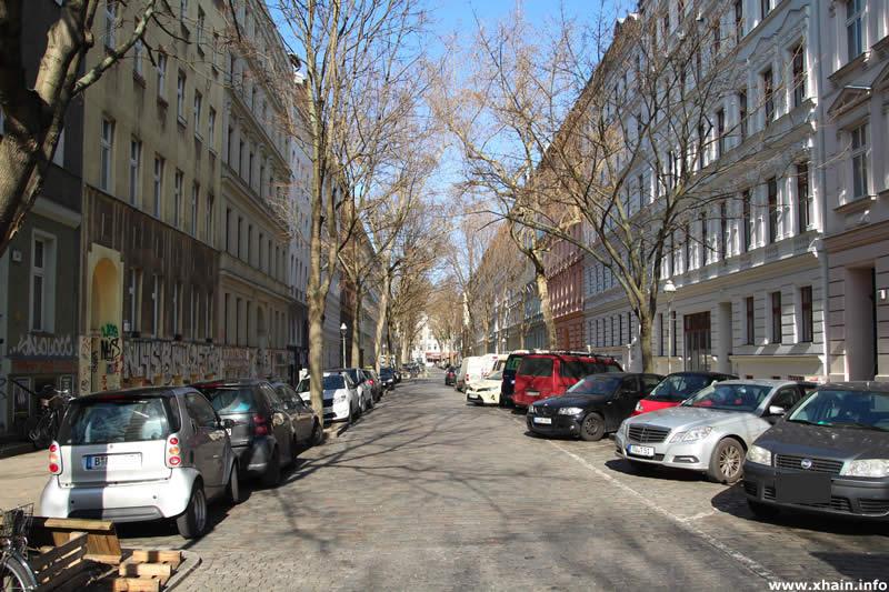 Sorauer Straße, Blickrichtung Wrangelstraße