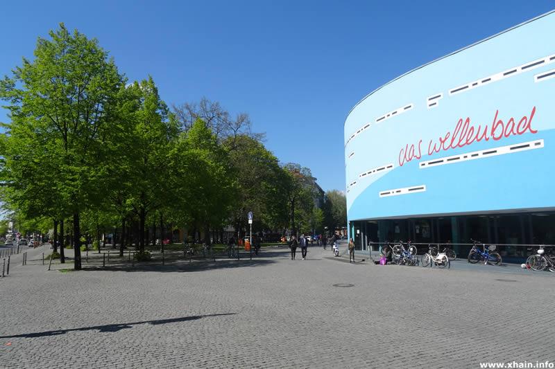 Spreewaldplatz und Spreewaldbad an der Wiener Straße