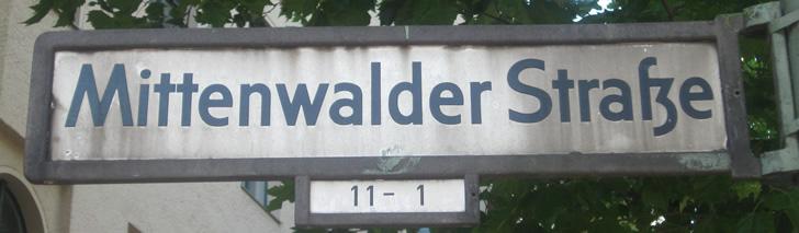 Straßenfest in der Mittenwalder Straße