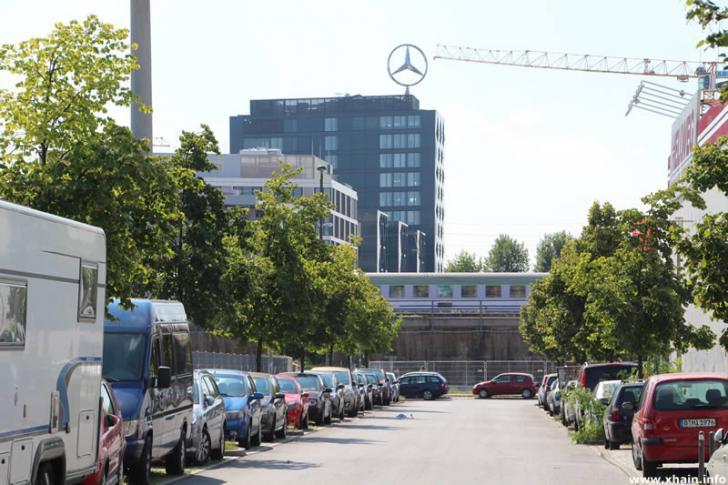 Am Wriezener Bahnhof, Blickrichtung An der Ostbahn