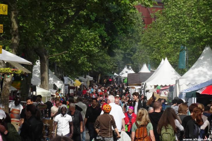 Karneval der Kulturen auf der Blücherstraße