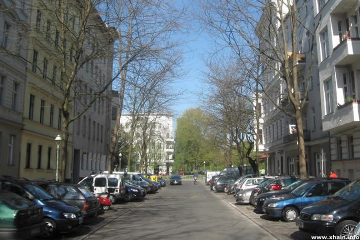 Böckhstraße, Blickrichtung Grimmstraße