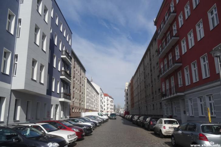 Bödikerstraße, Blickrichtung Corinthstraße
