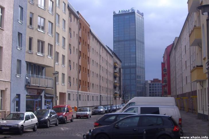 Bödikerstraße, Blickrichtung Stralauer Allee (Treptowers)