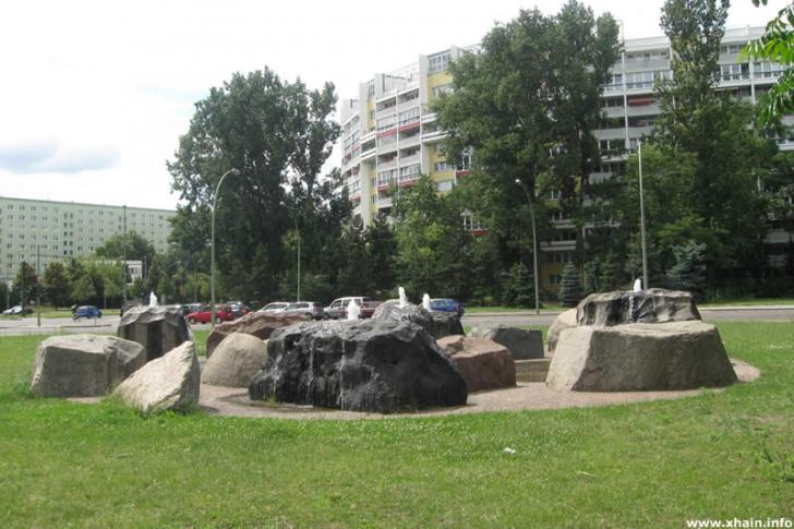 Brunnen am Platz der Vereinten Nationen