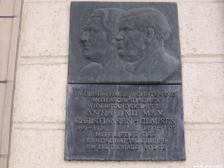 Gedenktafel für Anna und Max Christansen-Clausen