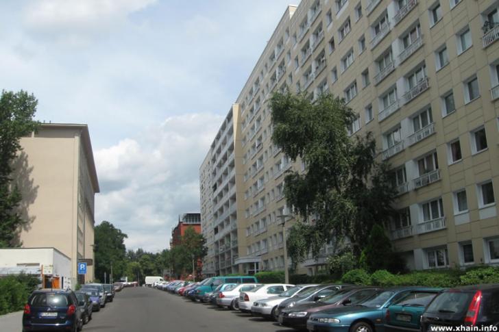Plattenbauten in der Georgenkirchstraße