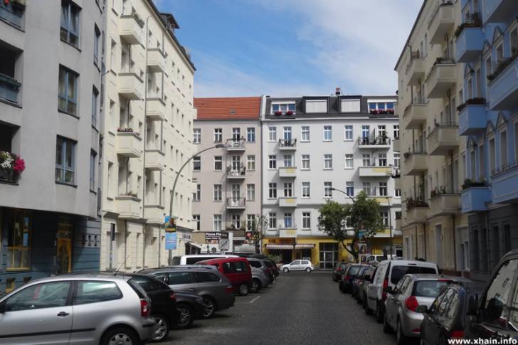 Heidenfeldstraße, Blickrichtung Ebertystraße