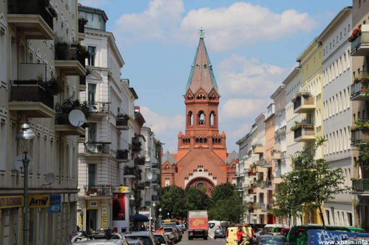 Heimstraße, Blickrichtung Passionskirche