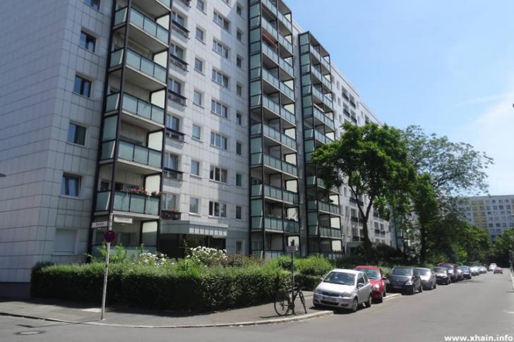 Plattenbauten in der Höchste Straße