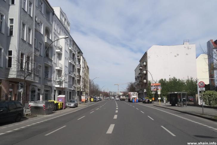 Markgrafendamm, Blickrichtung Ostkreuz
