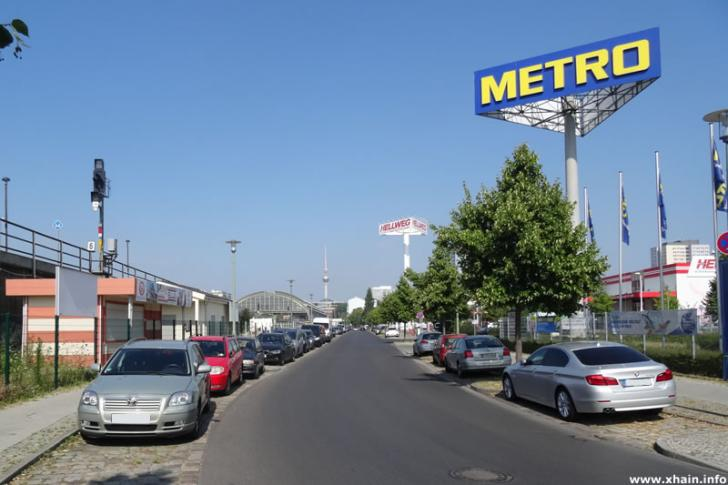 Straße An der Ostbahn (Hellweg, Metro, Ostbahnhof, Fernsehturm)