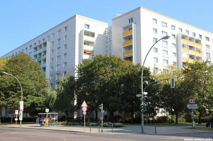 Plattenbau in der Andreasstraße