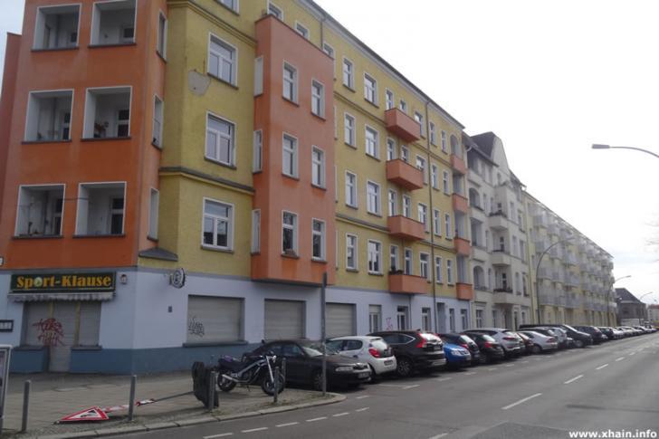 Rochowstraße, Blickrichtung Stralauer Allee (Sport-Klause)