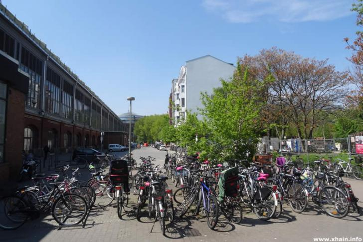Fahrradständer am Ostbahnhof