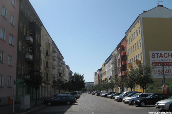 Thaerstraße, Blickrichtung Bersarinplatz