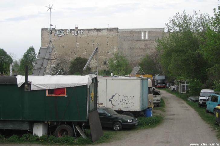 Wagenburg Laster und Hänger