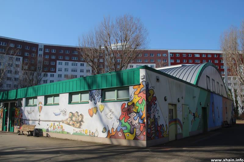Tonnensporthalle auf der Sportanlage Fredersdorfer Straße