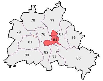Karte Wahlkreis 84