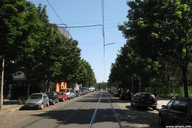 Weidenweg, Blickrichtung Forckenbeckplatz