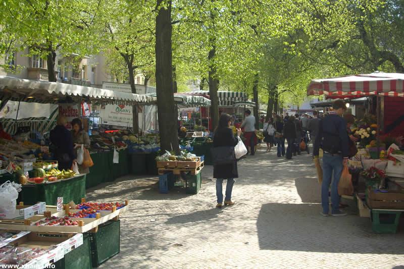 Wochenmarkt auf dem Boxhagener Platz