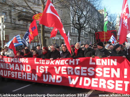 Liebknecht-Luxemburg-Demonstration 2012